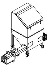 06652836 Automatyczny podajnik do spalania biomasy 0,6m3 400V 40kW, głowica: żeliwna (paliwo: trociny, wióry, zrębki, kora, brykiet, agrobrykiet, pellet, pestki owoców)