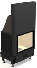48931833 Wkład kominkowy powietrzny 14kW ARYSTO A11 H szyba podnoszona do góry (szyba płaska podwójna, wymiar frontu: 670 x 510)