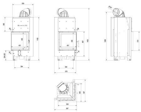 DOSTAWA GRATIS! 30055023 Wkład kominkowy 8kW MBN 8 BS (lewa boczna szyba bez szprosa) - spełnia anty-smogowy EkoProjekt
