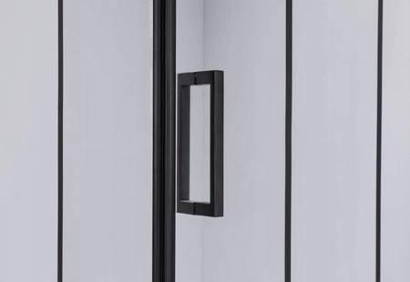 HYDAR Kabina Prysznicowa Czarna Black 80x80cm 23178496