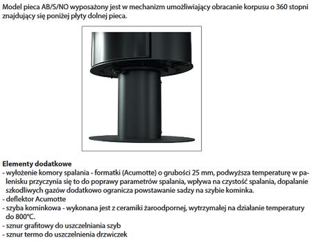 KONS Piec wolnostojący koza 8kW AB GLASS (z panelami kaflowymi - biały) - spełnia anty-smogowy EkoProjekt 30055008