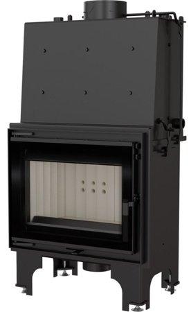 KONS Wkład kominkowy 12kW AQUARIO M12 PW GLASS z płaszczem wodnym, wężownicą (szyba prosta) - spełnia anty-smogowy EkoProjekt 30065529