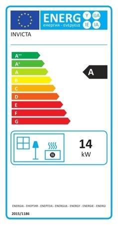 Piec wolnostojący Invicta 14kW Pow-Wow - spełnia anty-smogowy EkoProjekt 86829177