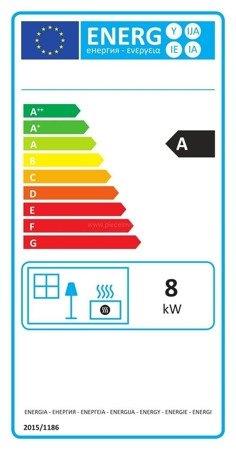 Piec wolnostojący Invicta 8kW Chatel (kolor: emalia antracyt) - spełnia anty-smogowy EkoProjekt 86876405