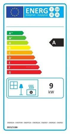 Piec wolnostojący Invicta 9kW Bradford (kolor: emalia antracyt) - spełnia anty-smogowy EkoProjekt 86876399