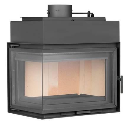 TOPGAR Wkład stalowy narożnik 12,6kW (lewa boczna szyba) - spełnia anty-smogowy EkoProjekt 19877524