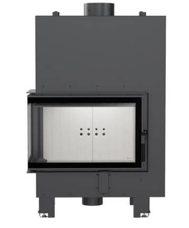 Wkład kominkowy 12kW MBM PW BS z płaszczem wodnym, wężownicą (lewa boczna szyba bez szprosa) - spełnia anty-smogowy EkoProjekt 30066825