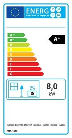 Wkład kominkowy 8kW Lucy Slim BS (lewa boczna szyba bez szprosa) - spełnia anty-smogowy EkoProjekt 30072664